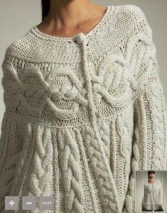 crochelinhasagulhas: Casaco de tricô
