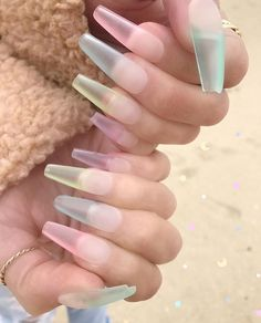 Sea Glass Nails: A Tendência das Unhas de Vidro MarinhoNail art is the art of nail decoration with its simple … Acrylic Nails Natural, Best Acrylic Nails, Aycrlic Nails, Manicure, Coffin Nails, Perfect Nails, Gorgeous Nails, Nail Lacquer, Nail Polish