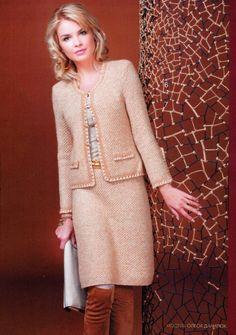 Crochetemoda: Chanel - Casaco com detalhes em Crochet