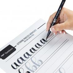 Free Lettering Practice Worksheets from Tombow