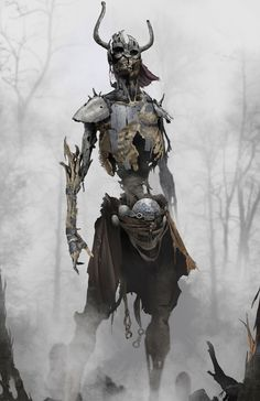 Draugr Soldier Concept Art - God of War Art Gallery Fantasy Kunst, Fantasy Rpg, Dark Fantasy Art, Medieval Fantasy, Fantasy Artwork, Demon Artwork, Creature Concept Art, Creature Design, God Of War