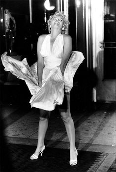Marilyn Monroe on set of the Seven Year Itch in 1954