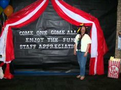 I can see doing something like this with red, white, and teal plastic tableclothes over the downstairs entry!!!