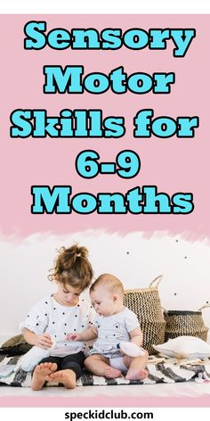 Sit, crawl, and turn. Get your child moving to enhance and encourage their sensory motor skills. Help them and try these activities for your toddler. Sensory Motor, Baby Sensory Play, Infant Sensory, Baby Learning Toys, 6 Month Old Baby, Early Reading, 9 Month Olds, Child Development, Motor Skills