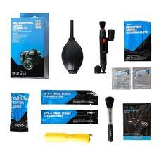 Kit de limpieza de lentes, filtros y pantallas de cámaras DSLR en oferta: Pluma de limpieza para la lente, cepillo para lente, aire comprimido, paños de limpieza de microfibra, dos APS-C Torunda, 8…