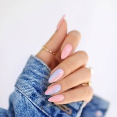 What manicure for what kind of nails? - My Nails Stylish Nails, Trendy Nails, Cute Nails, Unicorn Nails Designs, Ombre Nail Designs, Almond Shaped Nail Designs, Ombre Nail Art, Stiletto Nail Designs, Pastel Nail Art