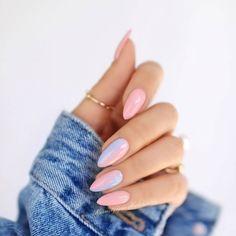 What manicure for what kind of nails? - My Nails Stylish Nails, Trendy Nails, Cute Nails, Pink Nails, Gel Nails, Nail Polish, Summer Shellac Nails, Gradiant Nails, Nail Gradient