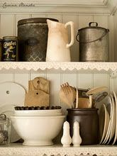 white, metal, and wood.... love it