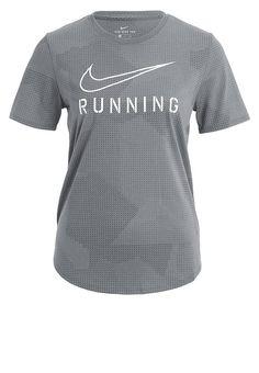 4aee1dfce5 Nike Performance T-shirt de sport - tumbled grey/black/white - ZALANDO