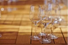 Wine glasses available at our wine shop