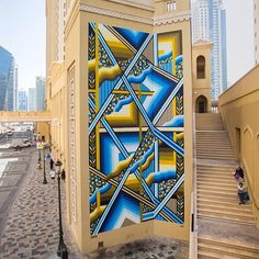 New abstract #streetart work in Dubai by Australian #mural artist Brad Eastman. ♥♥♥ http://bizarrebeyondbelief.com/2016/03/24/brad-eastman-new-mural-in-dubai/