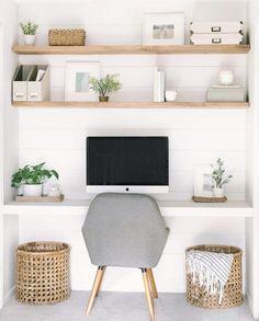 Ikea Play Kitchen DIY Makeover #homedecor #decoratingideas #decorideas #interiordesign Office Nook, Home Office Space, Home Office Design, Home Office Decor, Diy Home Decor, House Design, Office Room Ideas, Bedroom Office Combo, Office Inspo