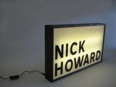 Hand Painted sign for singer / song writer NICK HOWARD!