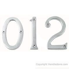 """3"""" door numbers in chrome satin"""