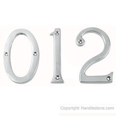 "3"" door numbers in chrome satin"