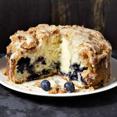 This recipe for Blueberry Coffee Cake makes a small batch of four pieces and goes perfect with your morning coffee for breakfast, mid-day brunch, or evening dessert. Food Cakes, Cupcake Cakes, Cupcakes, Cupcake Pics, Cake Recipes, Dessert Recipes, Desserts, Streusel Coffee Cake, Streusel Topping