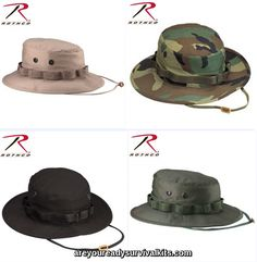 e91f1e3265a Rothco 100% Cotton Rip-Stop Boonie Hat Pith Helmet