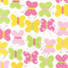 Spring Butterflies From Robert Kaufman 1 Yard by StitchStashDiva, $8.95