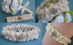 Bridal Garter Free Crochet Pattern. I'm going to make this for you but I'll add a ruffle to it and bigger bling.