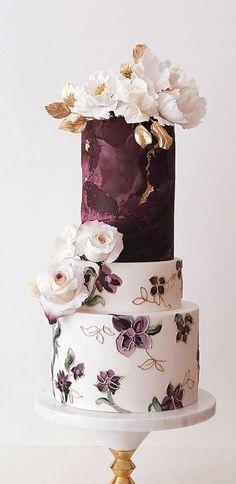 The Prettiest & Unique Wedding Cakes We've Ever Seen - Fabmood   Wedding Colors, Wedding Themes, Wedding color palettes