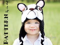 PATTERN - Oscar The French Bulldog Hat - Crochet PDF Pattern on Etsy, $6.46