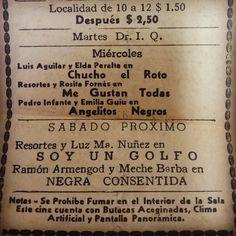 """""""Chucho, El roto"""", """"Me gustan todas"""" y """"Angelitos negros"""" #Boleto #Cine #CineMexicano"""