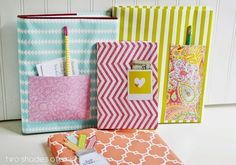 Wrap books for added flare. | 19 Clever Ways To Use Leftover Wrapping Paper