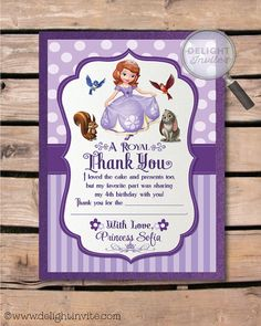 Sofia the First Birthday Invitations and by DelightInvite on Etsy
