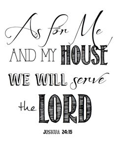 as for me and my house free printable