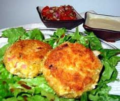 Przepis na Kotleciki z kurczaka - MniamMniam.com Vinaigrette, Salmon Burgers, Pesto, Baked Potato, Cauliflower, Potatoes, Baking, Vegetables, Ethnic Recipes