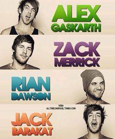 Rian Dawson, Jack Barakat, Alex Gaskarth, Zack Marrick