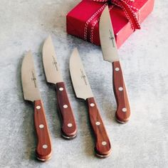 Wüsthof Steak Knives With Plum Wood Handles Set Of 4 Sur La Table
