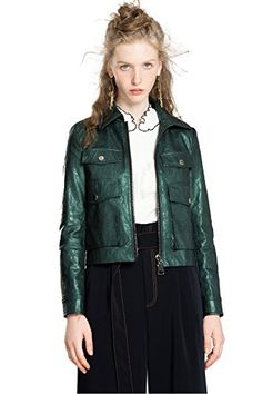 YUNY Womens Classics Notch Collar Fall Fleece Bell Sleeve Duffle Coat Pink XL