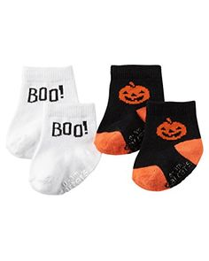 Carters Baby Halloween 2pack Socks 024M 03 Months Pumpkin * Find out more about the great product at the image link.