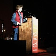 Tina Fey dressed as Marty McFly. I didn't know that I wanted this until now.