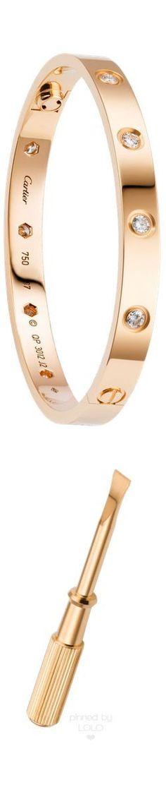 Cartier Love  Bracelet with Diamonds and Screwdriver | LOLO❤︎ #jeweledup