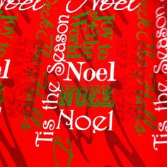 Christmas Joy to The World on red Cotton Fabric /Sewing Craft Supplies / Home Decor/ Quilting/Seasonal Print Fabric - pinned by pin4etsy.com