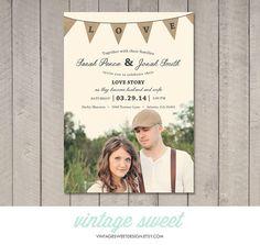 Wedding Invitation Printable DIY by Vintage by vintagesweetdesign, $12.00