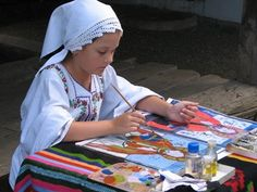 Little Romanian iconographer :)