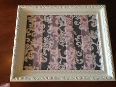 DIY hair bow frame for a pink and gray girl's room or baby nursery.