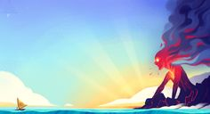 I'm an artist working in Portland, OR! — I roughed this out right after seeing Moana and...