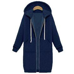 23132c690f62 Oversized Autumn Zanzea Women Casual Long Hoodies Sweatshirt Coat Pockets  Zip Up Outerwear Hooded Jacket Plus Size Tops