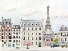 Illustration Paris - Mélanie Voituriez x Atomic Soda