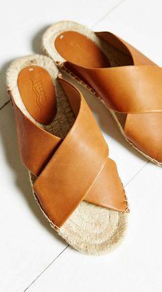 cross strap espadrille sandal