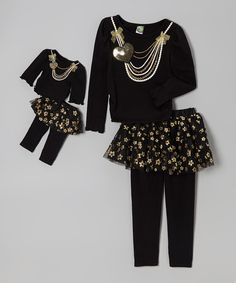Take a look at this Black Skirted Legging Set & Doll Outfit - Girls on zulily today!