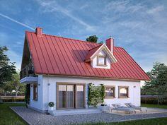 Bielik (102 m2) z nową wizualizacją. Pełna prezentacja projektu dostępna jest na stronie: https://www.domywstylu.pl/projekt-domu-bielik.php. #domywstylu #mtmstyl #projektygotowe #dom #domy #projekty #domyzpoddaszem #home #houses #design #architektura #architecture