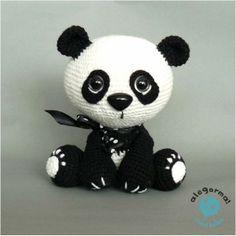 crochet panda bear! www.alegorma.com #szydełko, #crochet, #alegorma!