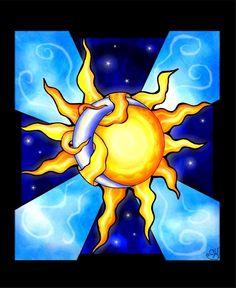 Sun entwined moon