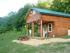 Pleasant Valley Cabins in Ontario, WI (Kickapoo Valley).  This is the Bears Den Cabin.