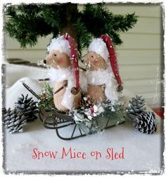 Mice on Sled.. I used an Old Road Primitives pattern